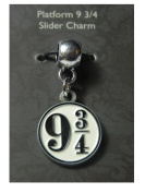 Platform 9 3/4 - Slider Charm - Official Harry Potter Warner Brothers Licenced product!