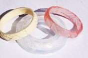 Clear Silicone Bangle Bracelet moulds. Size 60mm.