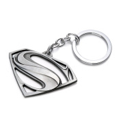 Superman Logo Keychain - Silver Colour