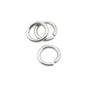 Packet of 50+ Silver Stainless Steel 0.8 x 5mm Jump Rings - (Y01905) - Charming Beads