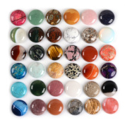 Wholesale Lot 24pcs Multi-colour 30mm Gemstone Round Cab Cabochon For Jewellery Making