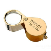 Golden 30 X 21mm Jeweller Loupe Magnifying Eye Glass Magnifier New by Z2store