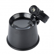 Dandelion LED Illuminated 20X Jewellers Loupe Magnifier - Premium Glass Magnifying Eye Loop Stand Made With Aircraft Grade Aluminium