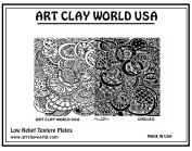 Art Clay World USA Low Relief Texture Shona Brooks Circles Design - 1 Pc.