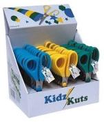 Hemline B4805 | 30 Assorted Kidz Kut Children's Scissors In Display Case | 127mm