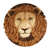 Brown Lion Face Painting Fashion Design Circular Mousepad With Rubber 20cm