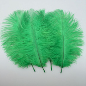 Sowder 20pcs Natural 10-12inch(25-30cm) Ostrich Feathers Plume for Wedding Centrepieces Home Decoration