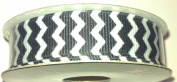 1.6cm Grosgrain Chevron Stripe Ribbon - 5yards
