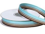 AQUA/CHOCOLATE Multi Stripe Ribbon - 4yds