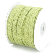 1cm X 25 Yard Braided Burlap Ribbon Trim - Great for Scrapbooking, Crafts, Gift Wrap - Willow Green