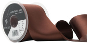 Berisfords R350170/25 | Dark Brown Double Faced Satin Ribbon | 20m x 70mm