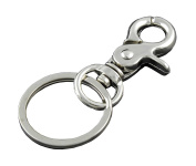 Lobster Trigger Key Fob Clip Keychain Hook Lock Buckle With Key Ring