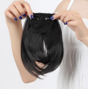"""LAY Fashion 8""""(20cm) Bangs Clip in Hair Extensions Front Neat Bang Fringe One Piece Striaght Hairpiece Accessories"""
