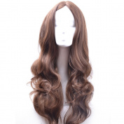 RightOn High Quality Women Girls Long Full Curly Wavy Cosplay Costume Party Wig with Free Wig Cap and Comb