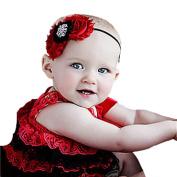 DZT1968(TM)Cute Baby Girls Headbands Rhinestone Flower Infant Hair Band