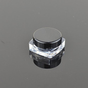 Teensery Square Shape 3g 3ml Empty Acrylic Cosmetic Cream Pot Jar Makeup Lip Balm Glitter Eye Shadow Sample Storage Container With Black Lid