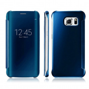 Galaxy S7 Edge Case,Doinshop 1PC Luxury Clear View Mirror Flip Smart Case Cover For Samsung Galaxy S7 Edge