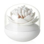 Bloss Cotton Swab Q-tip Storage Holder Cotton Wab Container Toothpick Holder for Kitchen, White