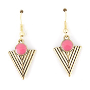 Simple Gold-tone Triangle/pyramid Dangle Drop Earrings