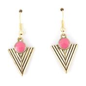 Simple Gold-tone Triangle/pyramid Dangle Drop Earrings
