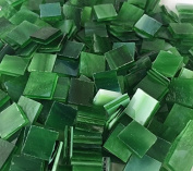 1.3cm Forest Green Stained Glass Mosaic Tiles