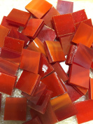 1.3cm Red Stained Glass Mosaic Tiles