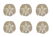 Sand Dollar Shape Unfinished Wood Cut Outs 6.4cm Inch 6 Pieces SAND-06