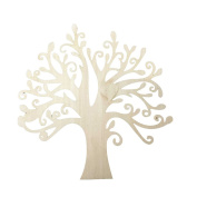 FENICAL Tree Embellishment Wooden Tree Craft for DIY Crafts Decoration