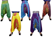 100Pcs Amazing India Rayon Ladies Chakra Design Baggy Harem Aladdin Pants Wholsale Lot