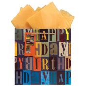 The Gift Wrap Company Happy Birthday Block Party Medium Gift Bag