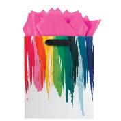 The Gift Wrap Company Rainbow Drip Medium Gift Bag