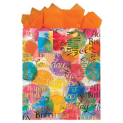 The Gift Wrap Company Watercolour Wishes Large Gift Bag