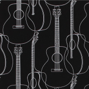 Gift Wrap - Guitars (Black)