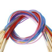 18pcs Bamboo Needles With Flexible Tubes, Crochet Needles - 80cm [version:x9.4] by DELIAWINTERFEL