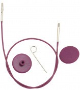 KnitPro KP10500 | Purple Interchangeable Cable | 20cm