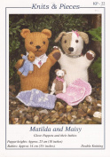 Knits & Pieces Knitting Pattern : Matilda and Maisy Glove Puppets and their b...