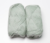 Happy Classy Cotton Cloud Fingering Weight Yarn - 50g/skein - 2 Skeins Total Green Mint 1st Quality Yarn