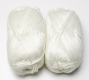Happy Classy Sky Cloud Worsted Polyester/ Acrylic Yarn - 50g/skein - 2 Skeins Total White 1st Quality Yarn