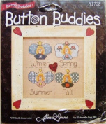 "Bucilla Button Buddies ""Angels All Year Round"" Cross Stitch Kit #41738"