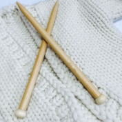 FLORAVOGUE Single Pointed Bamboo Knitting Needles Set