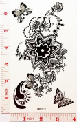 sexy flower Temporary Waterproof Tattoo Art Body Stickers Removable Fashion Henna Tattoo Inspired Sticker Gifts by Magic movement