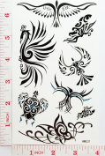 Colourful Birds Temporary Waterproof Tattoo Art Body Stickers Removable Fashion Henna Tattoo Inspired Sticker Gifts by Magic movement