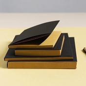 Black Kraft Cover Sketchbook / Journal / Diary / Note Book With Blank Kraft Paper (16K