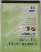 Real Images Medium Weight 40 Sheet 9X12 Sketch Pad, Set of 2