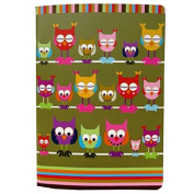 A5 Writing Doodle Book - Owls - 48 Pages - 8.3 X 5.8 - by Quire