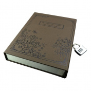 NUOLUX Vintage Notebook Hard Cover Journal Diary with Code Lock