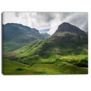 "Designart PT6938-100cm - 80cm Summer in Scotland Landscape Photo"" Canvas Print, Green, 100cm x 80cm"