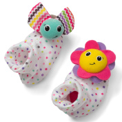 Infantino Foot Rattles, Flower and Rainbow Bug
