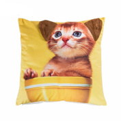 45cm *45cm 3D Cushion Covers Animals Dog Designs Digital Printing Throw Pillows Cover Case for Couch Sofa