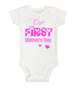"""Kids Onesie """"Our First MOTHERS DAY"""" Cute Mothers Day Gift RB Clothing Co"""
